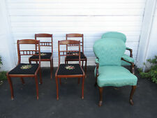 tell city chairs pattern 4526 white slip covered dining room in antique 1950 now ebay cherry set of 6 by chair company 9479