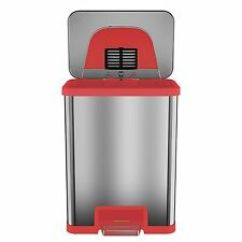 Red Kitchen Trash Can White Cabinets For Sale Ebay Tapcan 13 Gallon Trim Automatic With One Tap Pedal Sensor