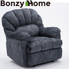 Overstuffed Design Recliner Sofa Chair Home Theater Seating Couch Short Plush