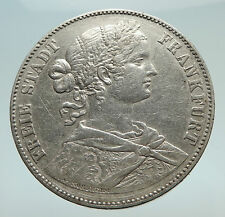 1860 GERMANY German States FRANKFURT Free State Antique Silver Coin i74497