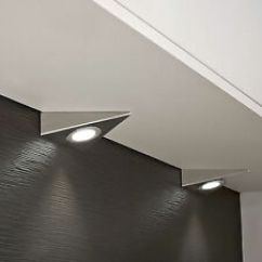 Kitchen Unit Led Lights Delta Linden Faucet Ebay Under Cabinet Cupboard Triangle Round Light Cool Or Warm White