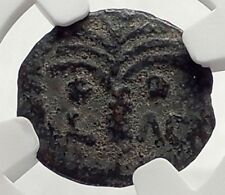COPONIUS Prefect of Roman JERUSALEM under Augustus 6AD BIBLICAL Coin NGC i70865
