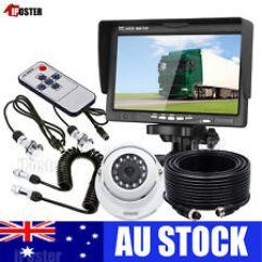 7 Pin Trailer Wiring Diagram Australia Ishikawa Template Word Car Video Rear View Monitors Cameras Kits For Caravan Ebay 4 Monitor Ccd Reversing Camera Suzy Coil
