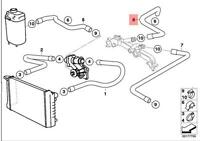 Genuine BMW E65 E66 Sedan Radiator Engine Return Hose Line