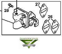 John Deere Fuel Pump and fittings GT225 L110 LT133 LT150