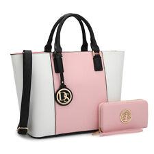 Dasein Women Handbags Large Tote Bag Satchels Shoulder Purse w/ Wallet Set