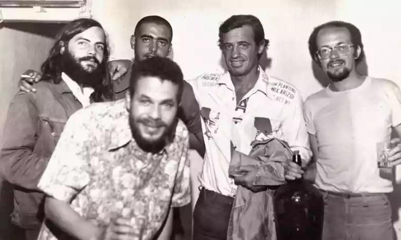 Actor Jean-Paul Belmondo and students in Ouro Preto (photo: Ouro Preto Photography Store)