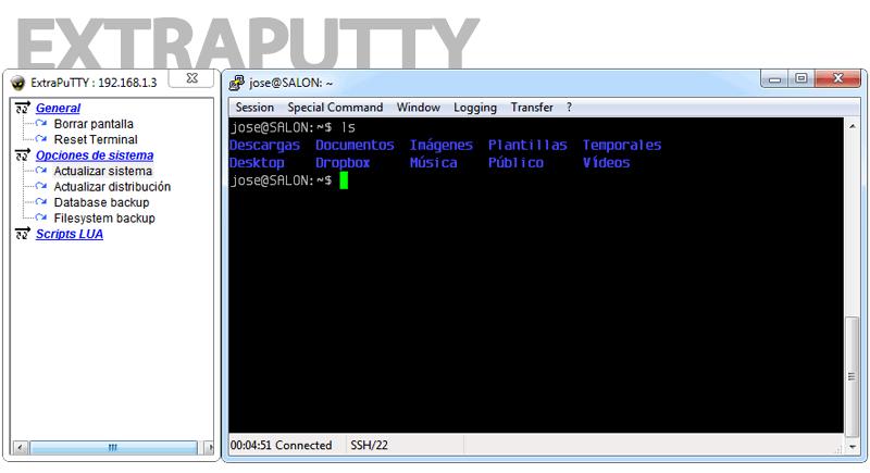 ExtraPuTTY: Fork de PuTTY que agrega alternativas adicionales