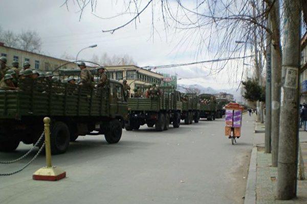 組圖:中共軍隊嚴密封鎖鎮壓西藏 | 大紀元