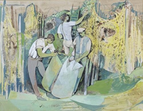 參展作品John Minton (1917-1957) 1945年水彩畫( The Estate of John Minton Image courtesy of JP Bland Photography)