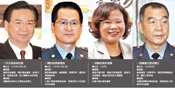 臺內閣改組 5首長異動 | 陸委會 | 大紀元