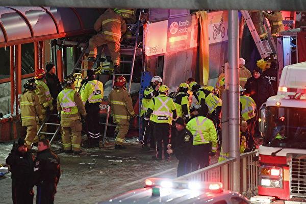 渥太華公交巴士車禍 三名遇難者均是公務員   雙層巴士車禍   大紀元