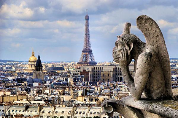 神祕又奇異 巴黎聖母院的滴水嘴獸和石像怪 | 思提志 | 大紀元