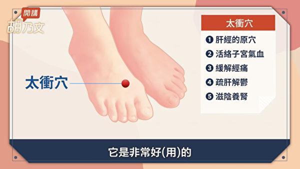 【胡乃文開講】月經怎麼補?3個穴位1類食物解經痛   止痛   痛經   中醫   大紀元