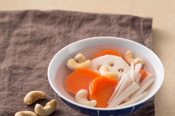 蓮藕牛蒡紅蘿蔔腰果湯 | 溫哥華 | 中藥 | 褒湯 | 大紀元
