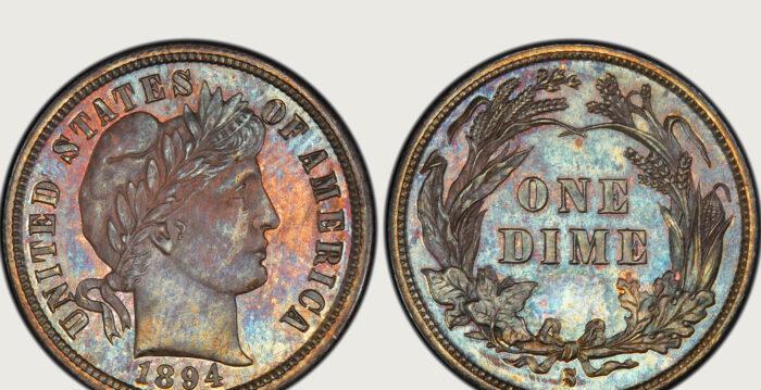 125年歷史10美分硬幣 132萬競拍成功   拍賣   收藏   美國錢幣之王   大紀元