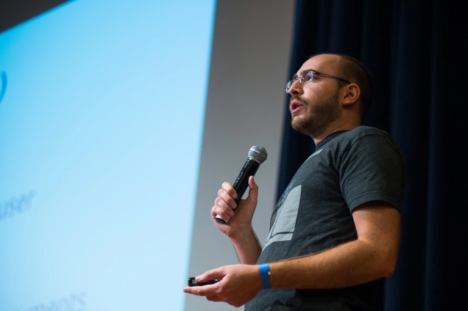 Presenting my lightning talk, From URL to Query, at WordCamp San Francisco 2014