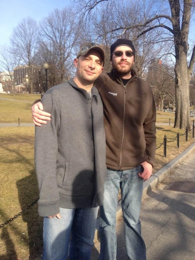Chris and me on Boston Common