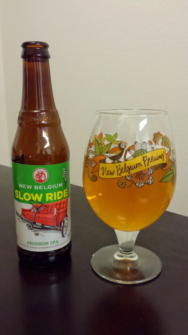 A new beer and its matching glass