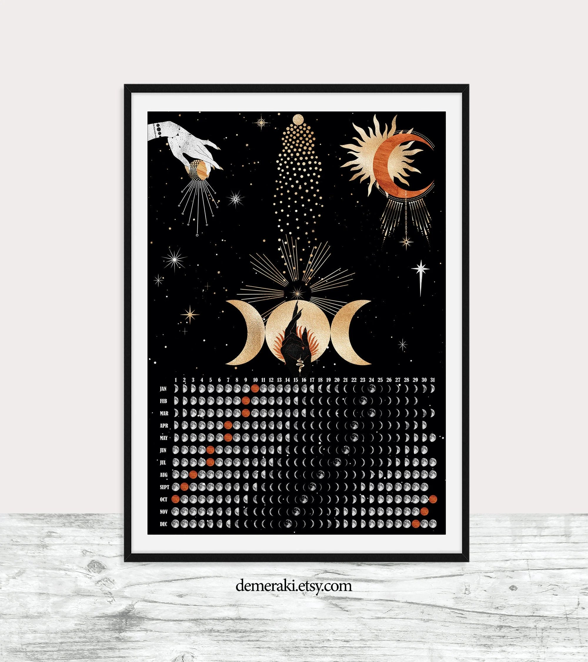 This halloween, make sure you stay on trend with all the hottest and most popular halloween costume ideas! NEW Witchy Moon Calendar 2021 Wicca Poster Decor Moon Phases   Etsy