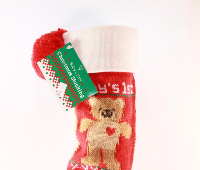 Vintage  In X In Christmas Stocking Babys First Christmas