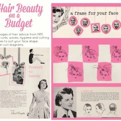 Vintage Pin Curls Diagram Visual Studio View Class Digital Pdf 1951 Beauty Booklet Hair On A Budget Etsy Image 0