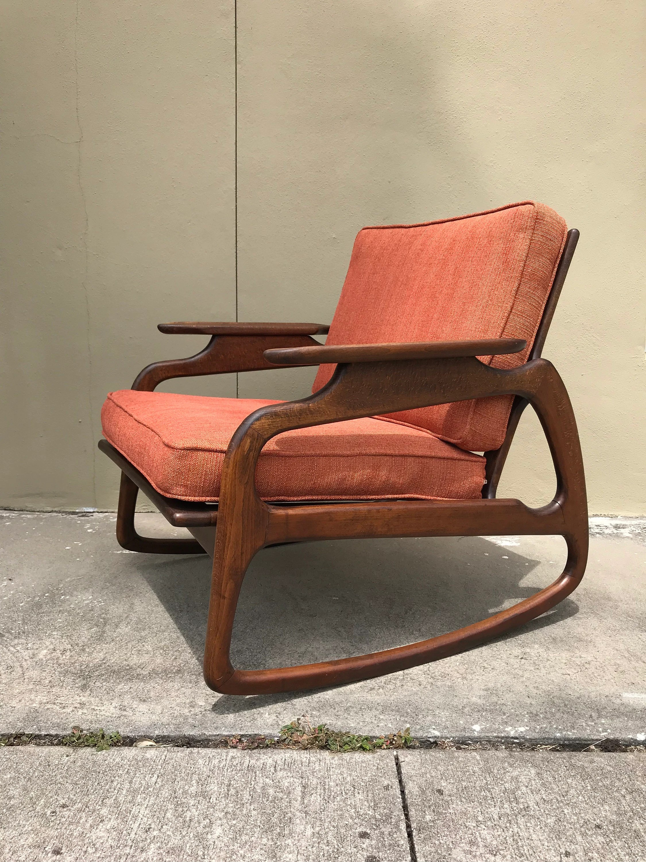 adrian pearsall rocking chair aluminium reclining garden chairs uk mid century modern attributed to etsy