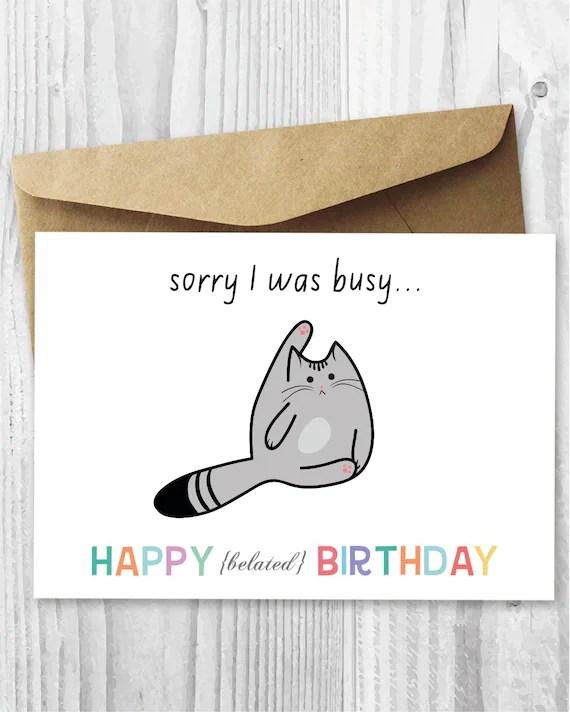 Happy Belated Birthday Cat : happy, belated, birthday, Birthday, Happy, Belated, Digital
