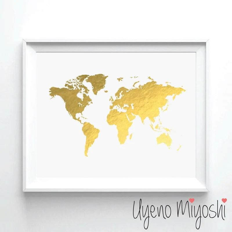 world map i gold