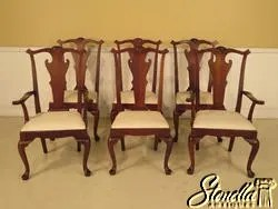 hickory chair co hanging bedroom l43074e set of 6 distressed mahogany dining etsy image 0