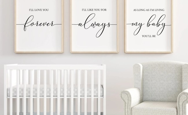 I Ll Love You Forever Printable Nursery Wall Art Nursery