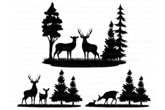 Download Deers Bundle SVG, Deer SVG Files for Silhouette & Cricut ...