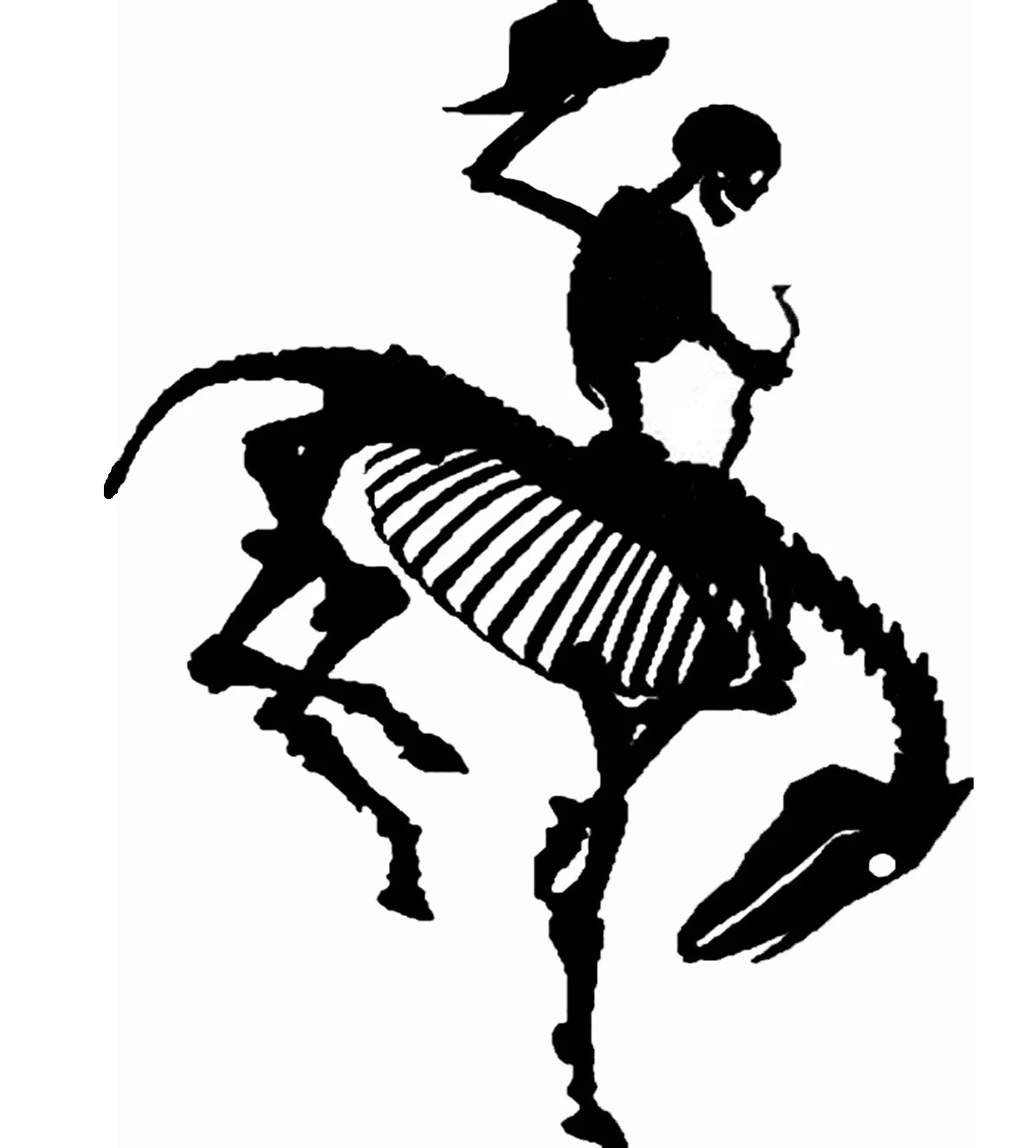 Wyoming Dead Cowboy State Bucking Horse Western Cowboys