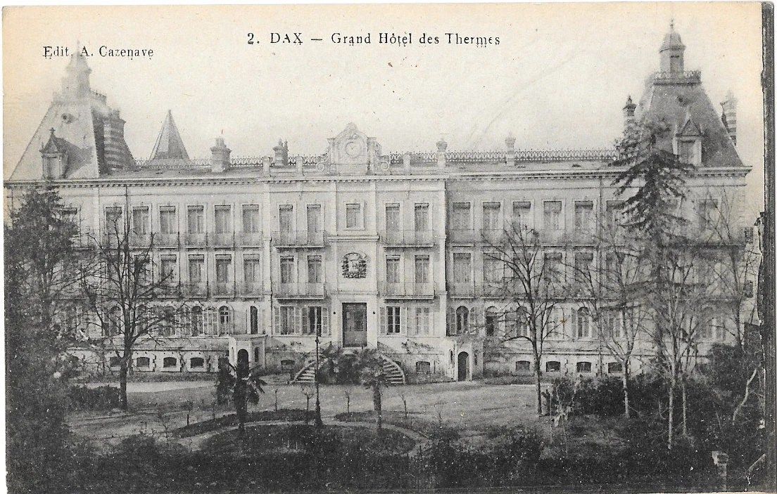 Dax Grand Hotel Des Thermes France Circa 1919 Unused Non Posted Postcard Edit A Cazenave