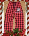 Adult Embroidered Buffalo Plaid Boxercraft Flannel Christmas Etsy