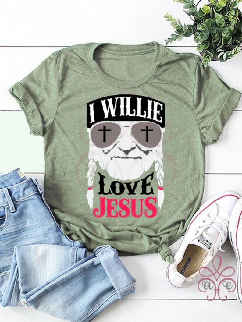 Download I Willie Love Jesus SVG DXF PNG Willie Nelson Easter Cut ...