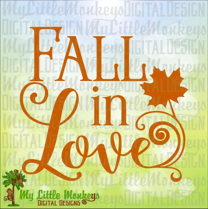 Download Fall SVG Fall in Love Maple Leaf svg Autumn Decor Fall | Etsy