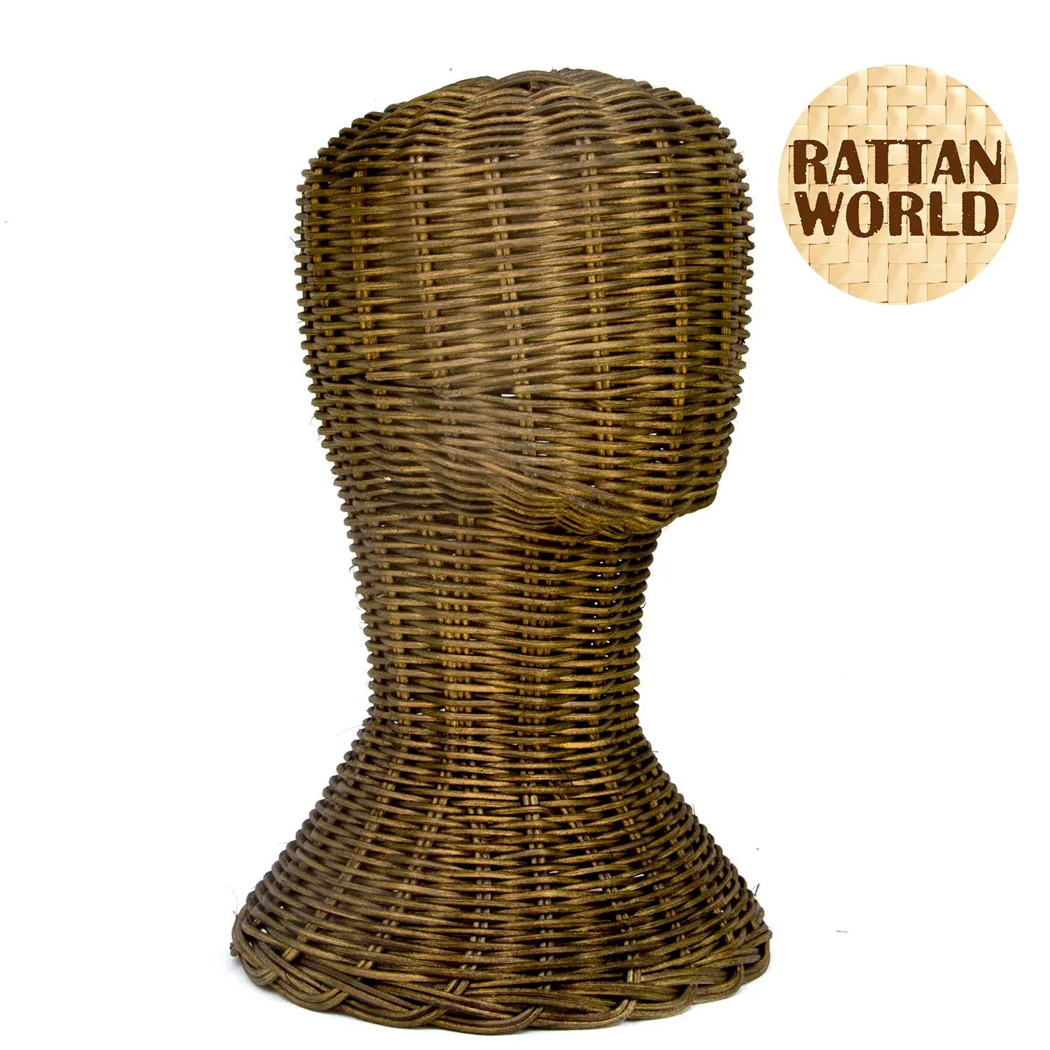 mannequin chair stand is there a hickory outlet rattan unisex head handicraft display bronze etsy image 0