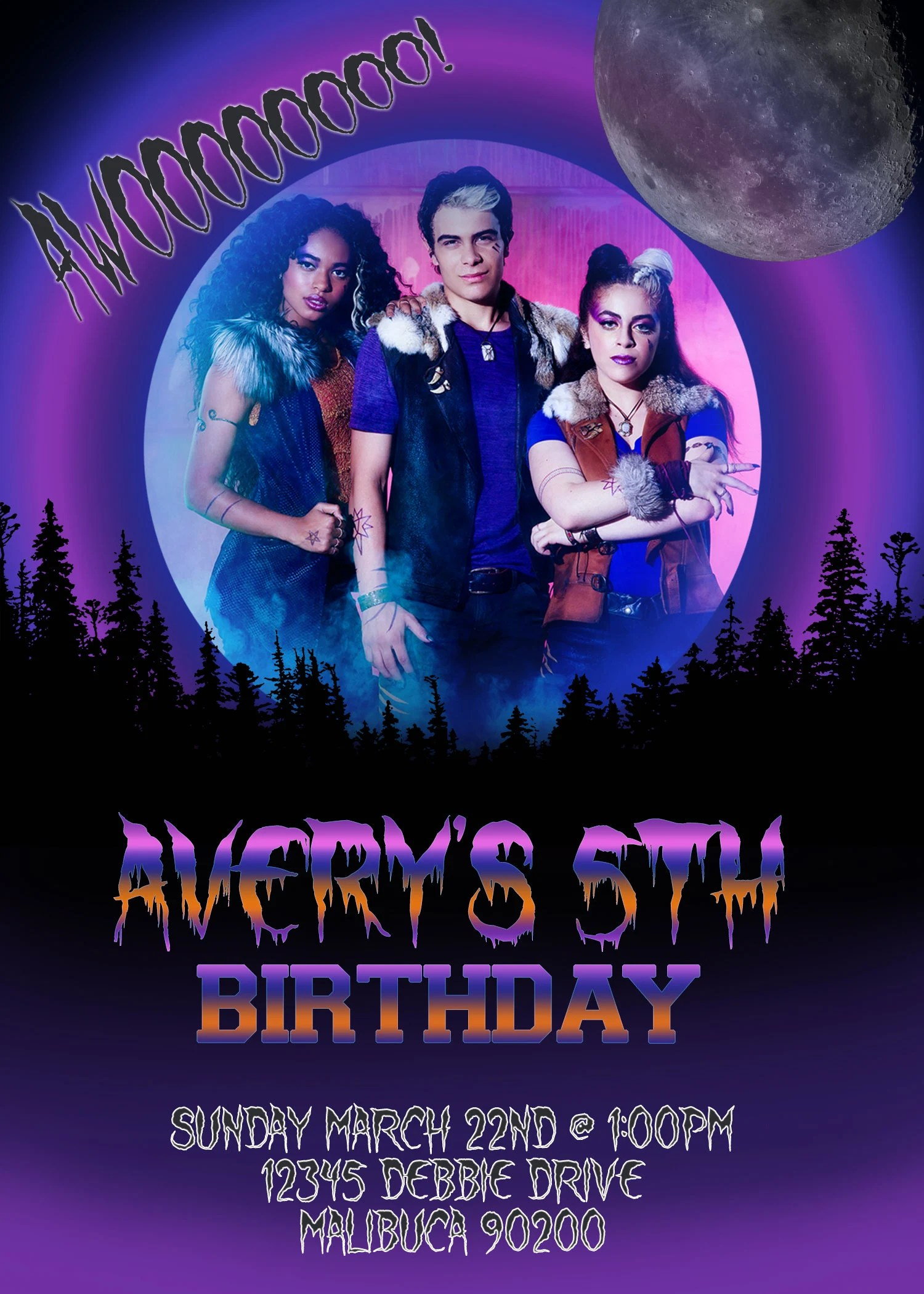 zombies werewolves birthday party invitation zombies 2 invitation digital disney s zombies