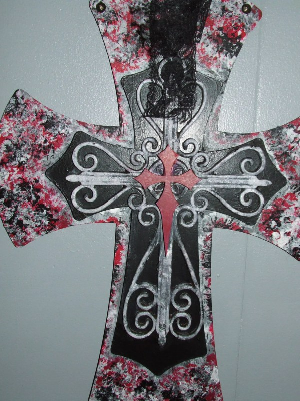 Large Decorative Wall Crosses Wooden And Metal