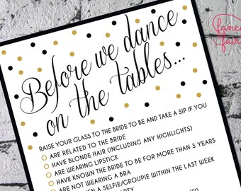Bachelorette Party Game INSTANT DOWNLOAD Printable
