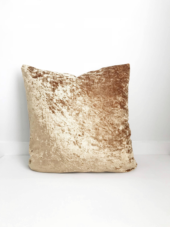 crushed velvet pillow cover boho