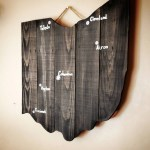 Pallet Wood Ohio Cutout Map Wooden Home Decor Ohio Wooden Cutout Reclaimed Wood Custom Painted Ohio Map Decoration Cities