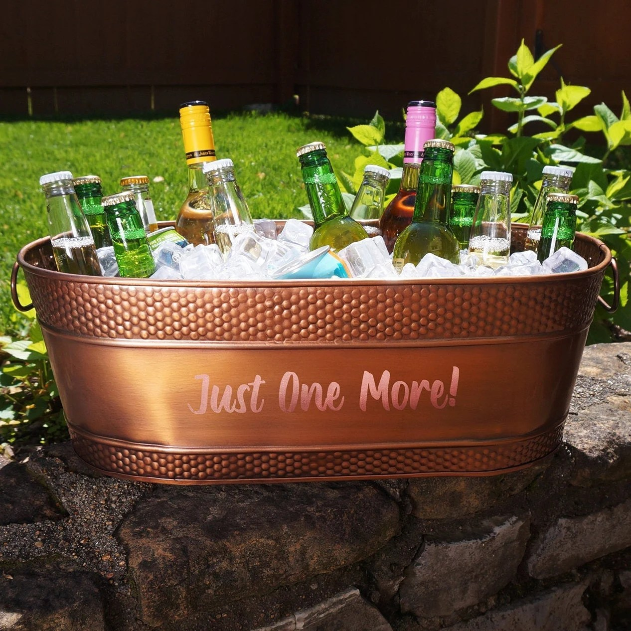 Personalized Copper Beverage Tub & Wine Chiller Ice Bucket image 2