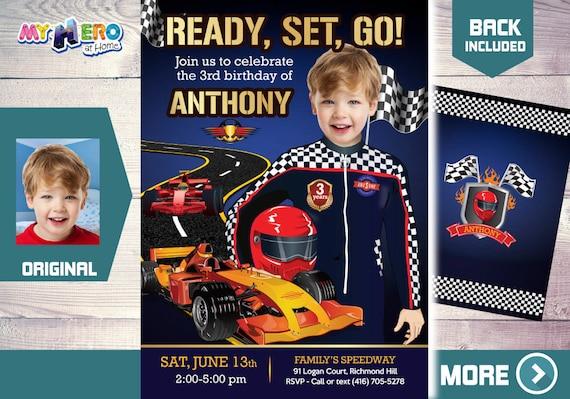 race car birthday invitation race car