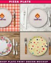 Pizza Plate Photoshop Print Mockup P5 1 Png White Plate Top Etsy