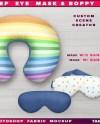 Sleep Eye Mask And Neck Pillow Boppy Photoshop Fabric Mockup Etsy