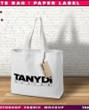 Cotton Square Tote Bag With Straps And Label Photoshop Fabric Etsy
