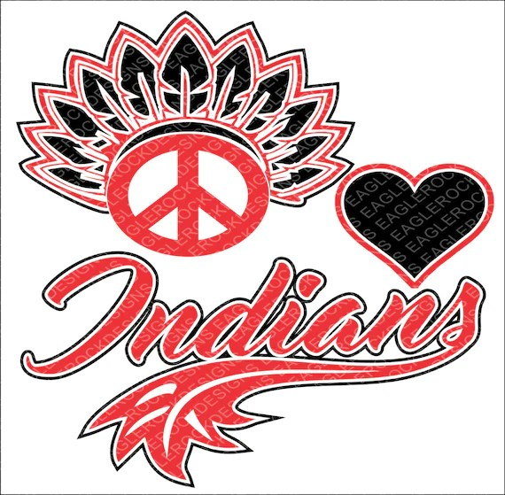 Download Peace Love Indians SVG DXF EPS Cut File for Cameo and | Etsy