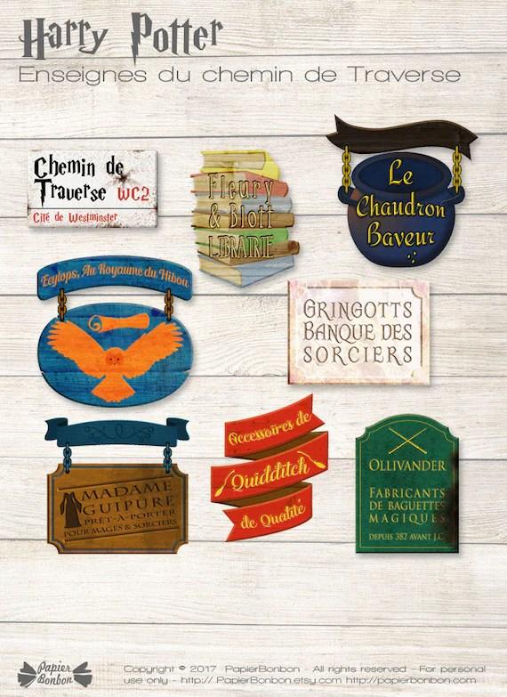 Harry Potter Chemin De Traverse : harry, potter, chemin, traverse, Enseignes, Inspirées, Harry, Potter, Chemin, Traverse